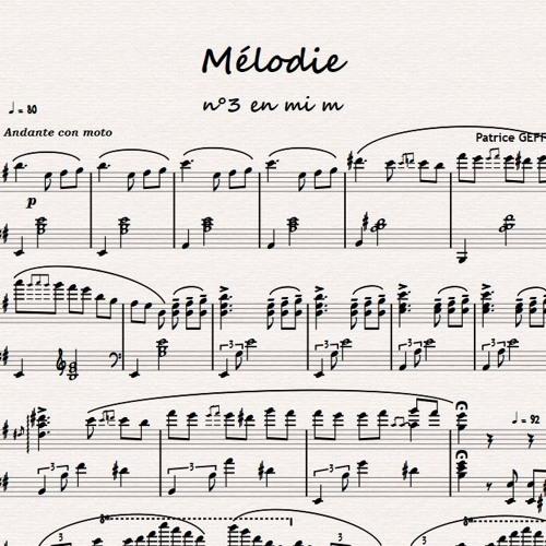 Mélodie en mi m
