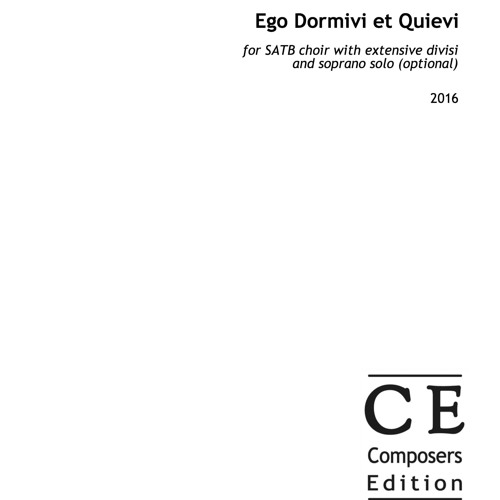 Ego Dormivi Et Quievi - (from Vespers inspired by the medieval Old Hispanic Office)
