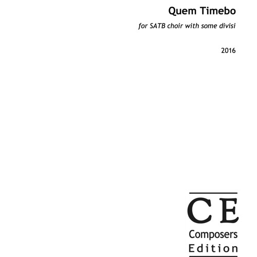 Quem Timebo - (from Vespers inspired by the medieval Old Hispanic Office)