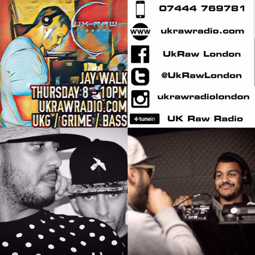 #81 - UK Raw Radio - DJ Jay WaLk Ft Loopz & Sneekie - Power Hour - 3 - 8-17