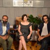 Lizzy Goodman with Kyp Malone (TV on the Radio) and Brian Chase (Yeah Yeah Yeahs)