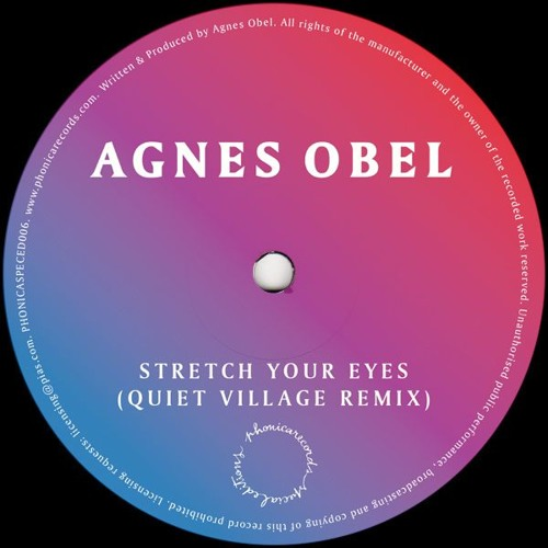 [PHONICASPECED006] Agnes Obel - Stretch Your Eyes (Quiet Village Remix)
