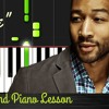 John Legend - How To Play All Of Me - Piano Tutorial Easy with Lyrics     Synthesia Lesson