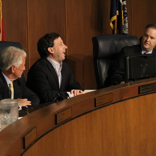 Stenger and Page argue over ice rink responsibility