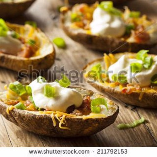 Recipe #3: Buffalo chicken potato skins