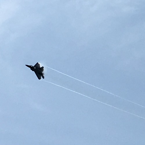 F - 22 Raptor Fighter Jet Back To Front And Climb