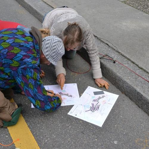 Stooszyt: Street Painting auf dem Theaterplatz