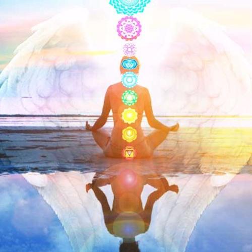 Meditando con los angeles.
