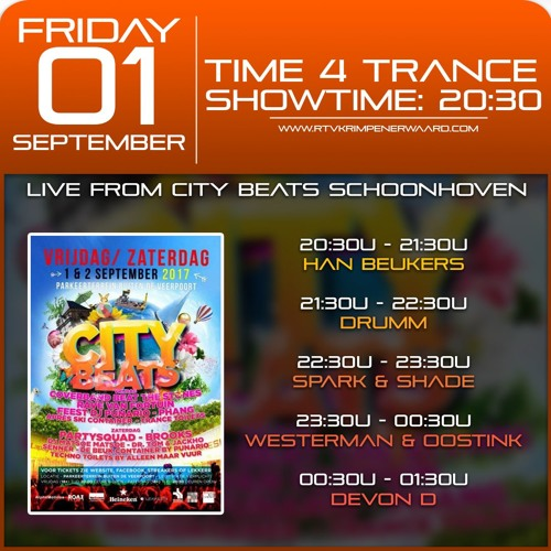 Time4Trance #80 Live From City Beats 1 - 09 - 17