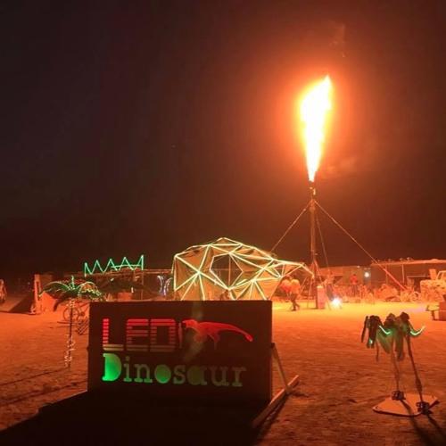 Sam Drank @ LED Dinosaur's Dino Onesie Party Burning Man 2017