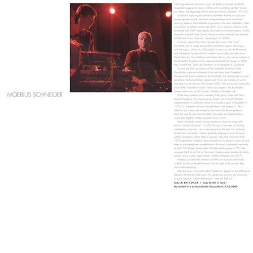 """Moebius Schneider """"Kunsthalle Düsseldorf"""". 12"""" vinyl. Out Oct 6, 2017"""