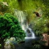 Waterfalls | Calm, Background, Ambient, Dreamy, Animated Movie, Adventure Game