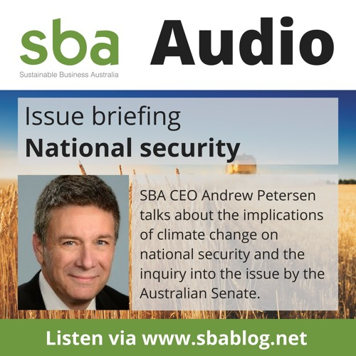 Australian Senate Inquiry into implications of climate change for Australia's national security