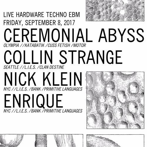 Nick Klein - Live at Cryptatropa 2017/09/08