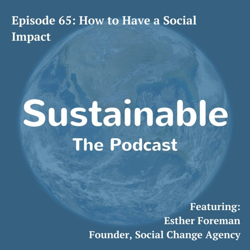 65: How to Have a Social Impact - Esther Foreman, Founder of Social Change Agency
