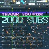 thank you for 2000 youtube subs