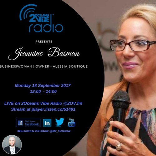 Jeannine Nestel-Bosman Live On Business Live Talk Show