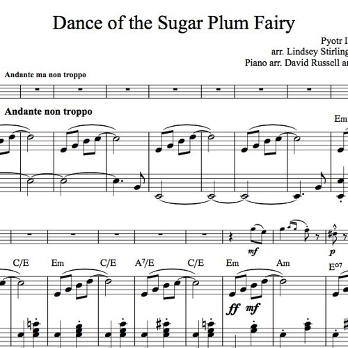 Dance of the Sugar Plum Fairy Piano Accompaniment Sample
