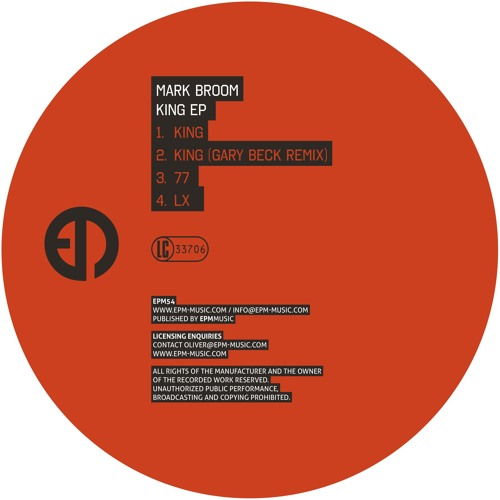 Mark Broom - King EP (previews) [EPM Music}