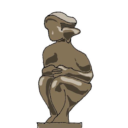 """2 Skulpturen """"Ensam"""""""
