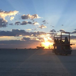 Sunrise Set From the Golden Gate Burning Man 2017