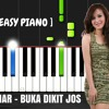 Juwita Bahar - Buka Dikit Jos Piano Lesson With Lyrics / Synthesia Piano Tutorial