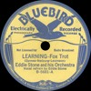 Eddie Stone and his Orchestra - Learning - 1934
