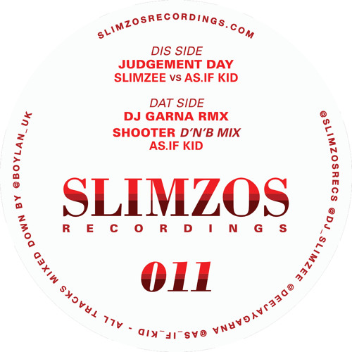 Slimzos 011 - The Judgement Day EP (Out Now) (Vinyl)