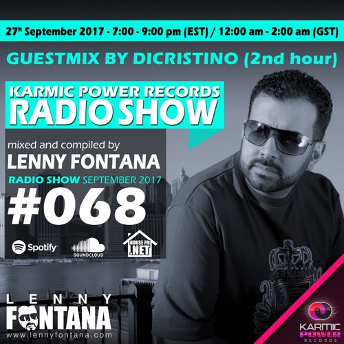 #68 Karmic Power Records Radio Show On HouseFM.NET mixed by Lenny Fontana 27. September 2017