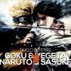 Goku e Vegeta VS. Naruto e Sasuke | Duelo de Titãs