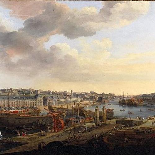Vue du port de Brest au XVIIIè - Musée National de la Marine de Brest