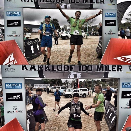 Karkloof 100Miler champs: Bennie and Naomi