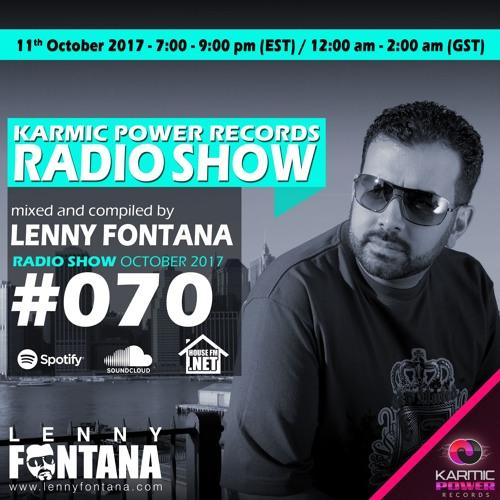 #70 Karmic Power Records Radio Show On HouseFM.NET mixed by Lenny Fontana 11. October 2017