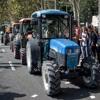 Llegan cientos de tractores a defender el referéndum independentista catalán