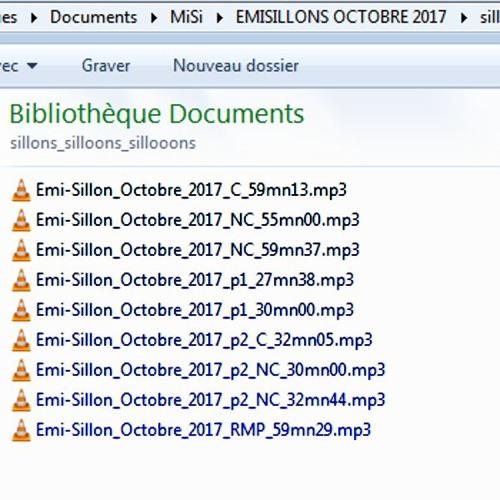 Emi-Sillon d'Octobre 2017 partie 1