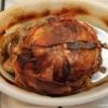 Half Ham In A Basket Weave bacon helmet