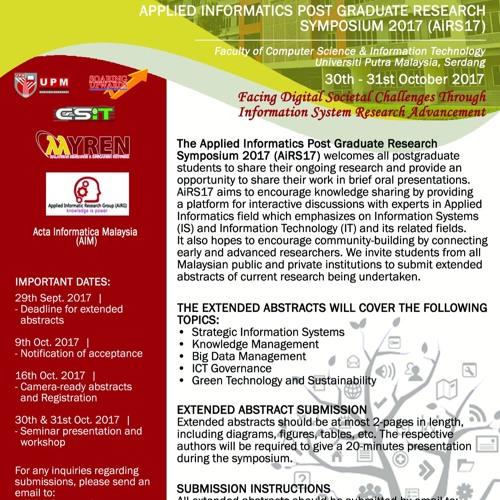 AiRS17 Promo PutraFM