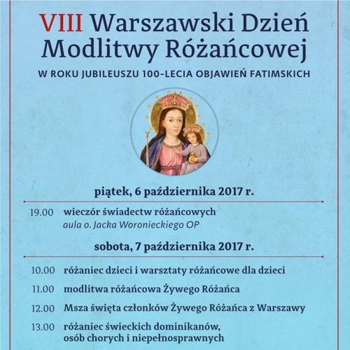 VIII Warszawski Dzień Modlitwy Różańcowej 2017