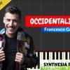 Occidentalis Karma - Francesco Gabbani Piano (Tutorial + Cover) With Lyrics  Synthesia Lesson