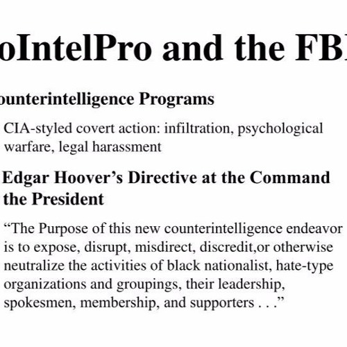 White Supremacy and Spree Killers, and FBI's COINTELPRO 2.0 (40)
