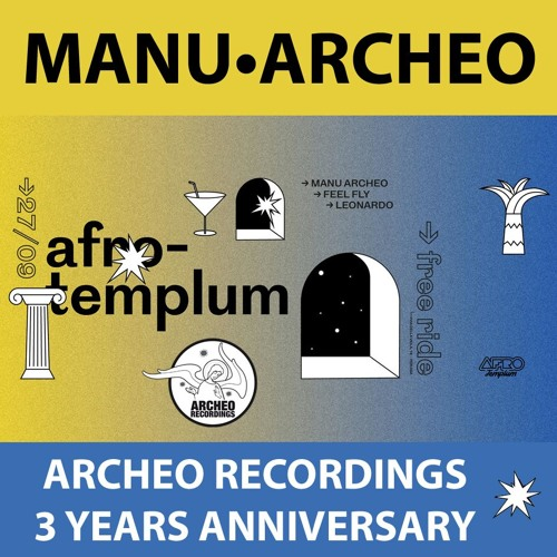 Manu•Archeo @ Afro Templum - Archeo Recordings 3 Years Anniversary (Perugia, I - 27.09.2017)