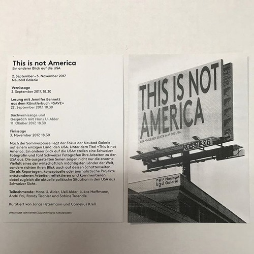 This Is Not America! Fotoausstellung in der Neubad Galerie