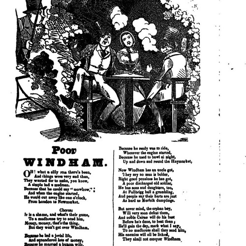 Extract 19.1 - Fighting back. A ballad about William Frederick Windham, 1862