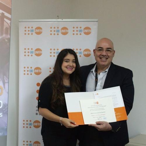 Pamela Flores. Estudiante de la Universidad Nacional de El Salvador.