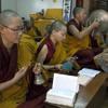 Tibetan Buddhist nuns at Dolma Ling chanting the Tara Puja