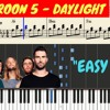 Maroon 5 - Daylight Piano (Tutorial + SHEETS) With Lyrics  Synthesia Piano Cover