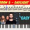 Maroon 5 - Daylight Piano (Tutorial + SHEETS) With Lyrics  Synthesia Piano Cover