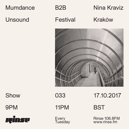 Mumdance B2B Nina Kraviz live from Unsound Festival, Kraków - 17th October 2017