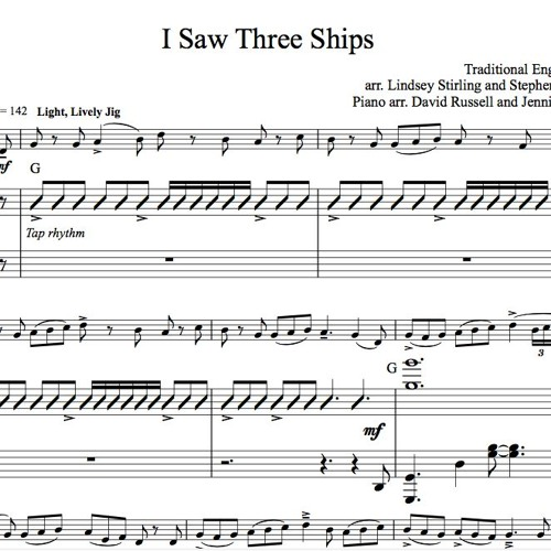 I Saw Three Ships Piano Accompaniment Sample By Lindsey