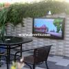 weatherproof TV enclosure, outdoor screen enclosure,